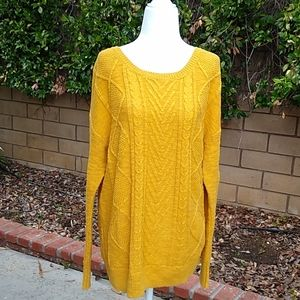 Mossimio Gold/Mustard Color Sweater. Size L
